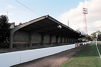 Covered terracing at Chelmsford City FC Football Ground, New Writtle Street, Chelmsford, Essex, pictured on 8th October 1994
