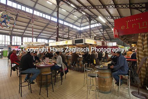 Markthalle, Narbonne, Canal de la Robine, Frankreich, France