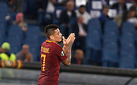 Calcio, Europa League: Roma vs Astra Giurgiu. Roma, stadio Olimpico, 29 settembre 2016.<br /> Roma&rsquo;s Juan Iturbe reacts after missing a scoring chance during the Europa League Group E soccer match between Roma and Astra Giurgiu at Rome's Olympic stadium, 29 September 2016. Roma won 4-0.<br /> UPDATE IMAGES PRESS/Riccardo De Luca