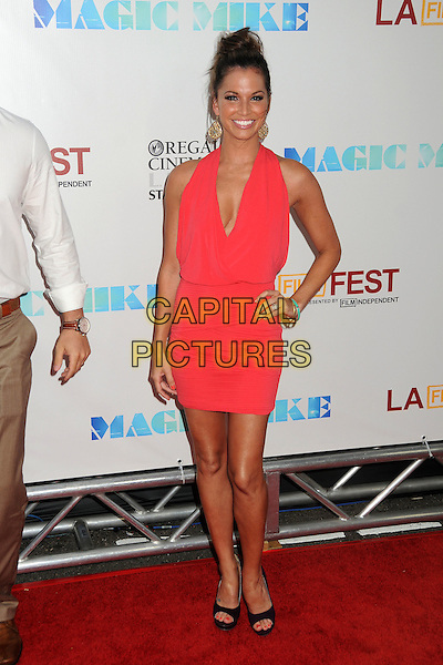 "Melissa Rycroft-Strickland.""Magic Mike"" Los Angeles Film Festival 2012 Premiere held at Regal Cinemas LA Live, Los Angeles, California, USA..June 24th, 2012.full length pink dress black shoes hand on hip sleeveless .CAP/ADM/BP.©Byron Purvis/AdMedia/Capital Pictures."
