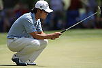 May 8,2011 - Kevin Na looks over the green on six.  Lucas Glover wins the tournament in sudden death over Jonathan Byrd at Quail Hollow Country Club,Charlotte,NC.