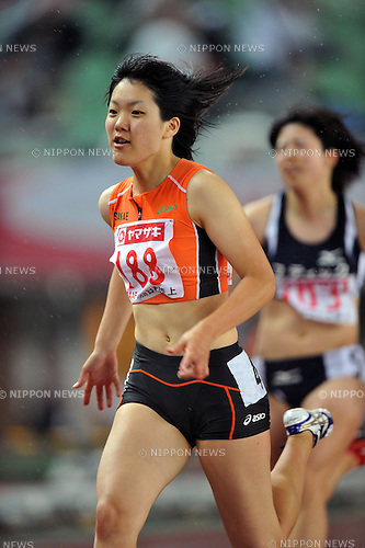 Anna Doi (JPN),.JUNE 8, 2012 - Athletics : The 96th Japan Athletics National Championships Osaka 2012, Women's 100m heat at Nagai Stadium, Osaka, Japan. (Photo by Jun Tsukida/AFLO SPORT) [0003]