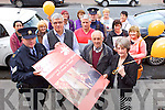 Kingdom Care, who support the older people in the community are organising a Balloon release to mark World Elder Day on June 15th, at their Mart Building in Tralee. Pictured were: Sergeant Michael Fleming, Gerhardt Maritz, Patrick Roche, Stephen (Sonny) Griffin, and Elizabeth Roche. At the back l-r were: Helen Heaslip, Margaret Caffrey, Polly Hall, Bernadette Tangney, Mary Mullins, Ellen Wallace, Mary O'Sullivan, Garda Joe Sullivan, Eileen Cremins and Noreen Cremins.