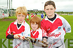 Pictured at the Ballyheigue Hurling Cúl Camp on Friday, from left: Simon Corridon, Donnacha Horgan and Ciarán Casey..