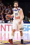 Real Madrid's Sergio Llull duringTurkish Airlines Euroleague match between Real Madrid and FC Barcelona Lassa at Wizink Center in Madrid, Spain. March 22, 2017. (ALTERPHOTOS/BorjaB.Hojas)