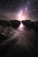 Stars Over Montana de Oro State Park at Night