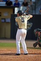 UCF Knights pinch hitter Brooks Morgan (5) at bat during a game against the Siena Saints on February 21, 2016 at Jay Bergman Field in Orlando, Florida.  UCF defeated Siena 11-2.  (Mike Janes/Four Seam Images)