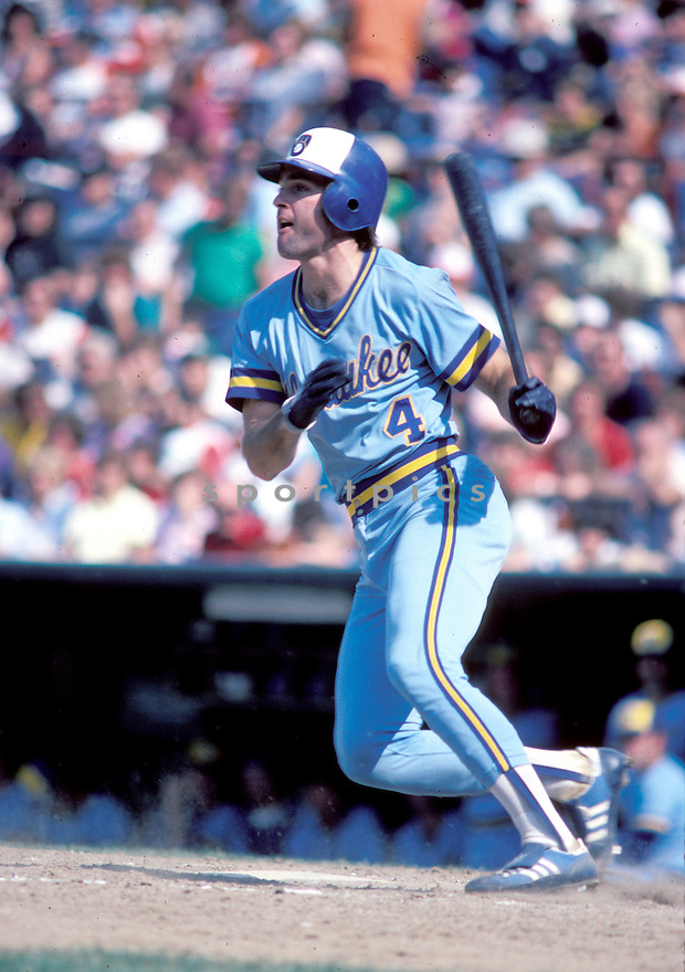 Milwaukee Brewers Paul Molitor(4) in action during a game from the 1983 season. Paul Molitor played for 21 years with 3 different teams  was a 7-time All-Star and was inducted to the Baseball Hall of Fame in 2004.David Durochik/SportPics