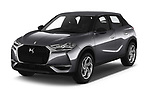 2019 DS DS 3 Crossback Grand Chic 5 Door SUV angular front stock photos of front three quarter view