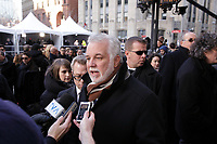 Quebec Premier Philippe Couillard <br />  attend the funeral of manager Rene Angelil, Friday january 22, 2016 at Notre-Dame Basilica in Montreal, Canada.<br /> <br /> Photo : Pierre ROUSSEL - Agence Quebec Presse<br /> <br /> <br /> <br /> <br /> <br /> <br /> <br /> <br /> <br /> .