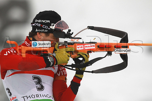 09.01.2011 IBU World Cup Biathlon from Oberhof Germany. Picture shows Ole Einar Bjoerndalen Norway.