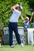 Phil Mickelson (USA) watches his tee shot on 4 during round 2 of the Dean &amp; Deluca Invitational, at The Colonial, Ft. Worth, Texas, USA. 5/26/2017.<br /> Picture: Golffile | Ken Murray<br /> <br /> <br /> All photo usage must carry mandatory copyright credit (&copy; Golffile | Ken Murray)