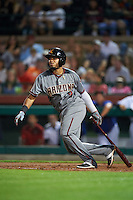 Salt River Rafters Dawel Lugo (9), of the Arizona Diamondbacks organization, during a game against the Scottsdale Scorpions on October 12, 2016 at Scottsdale Stadium in Scottsdale, Arizona.  Salt River defeated Scottsdale 6-4.  (Mike Janes/Four Seam Images)