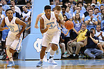 18 November 2015: North Carolina's Kennedy Meeks (3) brings the ball up the court. The University of North Carolina Tar Heels hosted the Wofford College Terriers at the Dean E. Smith Center in Chapel Hill, North Carolina in a 2015-16 NCAA Division I Men's Basketball game. UNC won the game 78-58.