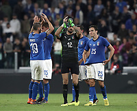 International friendly football match Italy vs The Netherlands, Allianz Stadium, Turin, Italy, June 4, 2018. <br /> Italy's players greets fans at the end of the international friendly football match between Italy and The Netherlands at the Allianz Stadium in Turin on June 4, 2018.<br /> Italy and The Netherlands drawns 1-1.<br /> UPDATE IMAGES PRESS/Isabella Bonotto