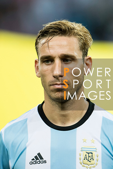 Lucas Biglia of Argentina during the International Test match between Argentina and Singapore at National Stadium on June 13, 2017 in Singapore. Photo by Marcio Rodrigo Machado / Power Sport Images