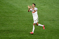 30th July 2020; Bankwest Stadium, Parramatta, New South Wales, Australia; A League Football, Adelaide United versus Perth Glory; Juande of Perth Glory celebrates his penalty in the 83rd minute to make it 5-3 to Adelaide