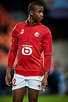 5th November 2019; Mestalla, Valencia, Spain; UEFA Champions League Football,Valencia versus Lille; Tiago Djalo of Lille warms up prior to the game - Editorial Use