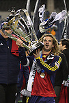 22 November 2009: Salt Lake captain Kyle Beckerman with the Philip F. Anschutz MLS Cup Trophy. Real Salt Lake defeated the Los Angeles Galaxy 5-4 on penalty kicks after the teams played to a 1-1 overtime tie at Qwest Field in Seattle, Washington in MLS Cup 2009, Major League Soccer's championship game.