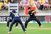 Blackcaps captain Kane Williamson in action while batting during the Third ODI game between Black Caps v England, Westpac Stadium, Wellington, Saturday 03rd March 2018. Copyright Photo: Raghavan Venugopal / © www.Photosport.nz 2018