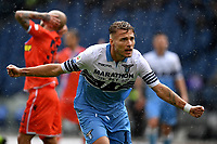 Ciro Immobile of Lazio celebrates after scoring a goal during the Serie A 2018/2019 football match between SS Lazio and Spal at stadio Olimpico, Roma, November 04, 2018 <br />  Foto Andrea Staccioli / Insidefoto