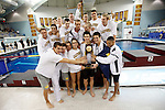 26 MAR 2011:  The University of California team celebrates their victory during the Division I Men's Swimming and Diving Championship held at the University of Minnesota Aquatics Center in Minneapolis, MN. California won the overall team championship with 453 points at the event.  Carlos Gonzalez/ NCAA Photos