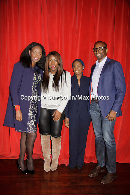 Siamanda Chege - Karen Mitchell - Debra Hare-Bey - Fred Mwangaguhunga on a panel at Color of Beauty which recognizes stylish people of color with a one-day event featuring topical panel discussions followed later tonght with a red carpet awards ceremony. The event was on February 4, 2014 at New York University, New York City, NY. (Photo by Sue Coflin/Max Photos)