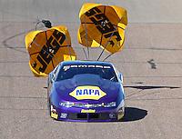 Feb 27, 2016; Chandler, AZ, USA; NHRA pro stock driver Vincent Nobile during qualifying for the Carquest Nationals at Wild Horse Pass Motorsports Park. Mandatory Credit: Mark J. Rebilas-