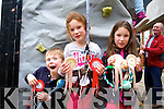 Jamie, Ally and Emma Tarrant from Tralee enjoying the 25th Anniversary Crag Caves Fun Day in Castleisland on Sunday