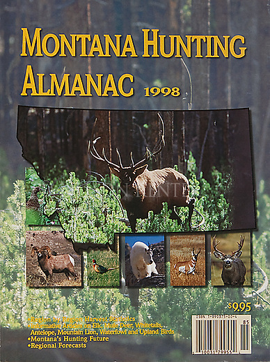 Elk photo on the cover of Montana Hunting Almanac