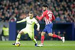 Club Atletico de Madrid's Diego Costa (R) and Futbol Club Barcelona's Arthur Melo  during La Liga match. November 24,2018. (ALTERPHOTOS/Alconada)