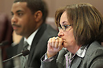 Nevada Senate Majority Leader Steven Horsford, D-North Las Vegas, left, and Assemblywoman Debbie Smith, D-Sparks, listen to testimony about higher education budgets at the Legislature in Carson City, Nev. on Tuesday, March 22, 2011. .Photo by Cathleen Allison