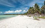 A beach and village near Tabwakea in Kiritimati, Kiribati