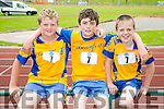 l-r  Pierse Slattery, Shane Galvin and Thomas Healy from Beaufort. at the An Riocht  Community Games in Castleisland on Saturday