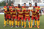 07 May 2016: Fort Lauderdale's starters. Front row (from left). Nana Attakora (CAN), Jose Angulo (COL), Ramon Nunez (HON), PC (BRA), Geison Moura (BRA). Back row (from left): Maicon Santos (BRA), Dalton (BRA), Jean-Marc Alexandre (HAI), Luis Felipe Fernandes, Diego Restrepo (VEN), Gale Agbossoumonde. The Carolina RailHawks hosted the Fort Lauderdale Strikers at WakeMed Stadium in Cary, North Carolina in a 2016 North American Soccer League Spring Season game. The Strikers won the game 3-1.