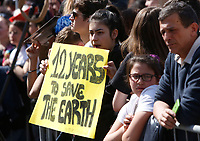 Demonstrators attend the FridayForFutureRoma protest to demand action on climate change in Rome, April 19, 2019.<br /> UPDATE IMAGES PRESS/Riccardo De Luca