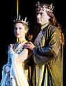 Richard II by William Shakespeare, A Royal Shakespeare Company Production directed by Gregory Doran. With Emma Hamilton , The Queen,  David Tennant as Richard II. Opens at The Royal Shakespeare Theatre, Stratford Upon Avon  on 17/10/13  pic Geraint Lewis