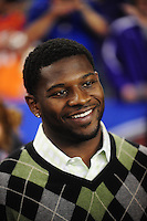 Jan. 4, 2010; Glendale, AZ, USA; Football player LaDanian Tomlinson on the sidelines during the game between the TCU Horned Frogs against the Boise State Broncos in the 2010 Fiesta Bowl at University of Phoenix Stadium. Mandatory Credit: Mark J. Rebilas-