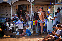 Tyler Wright (AUS).  Haleiwa Hawaii, (Wednesday November 16, 2010) .In 26 years of Vans Triple Crown competition at Haleiwa, no-one can recall ever running three consecutive days, but that was the scenario today as a  rising swell poured in for the Women's Cholo's Hawaiian Pro  final. A crisp offshore breeze, clear skies and  smooth waves was the stage for the Cholo's Women's final won by defending Triple Crown Champion Stephanie Gilmore (AUS) with Tyler Wright (AUS) in 2nd, Alana Blanchard (HAW) in 3rd and Jacqueline Silva (BRA) in 4th place. All three place getters qualified for next years WCT Women's Tour..Photo: joliphotos.com