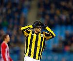 Nederland, Arnhem, 2 december  2012.Eredivisie.Seizoen 2012-2013.Vitesse-Roda JC.Jonathan Reis van Vitesse juicht nadat hij de 2-0 heeft gescoord.