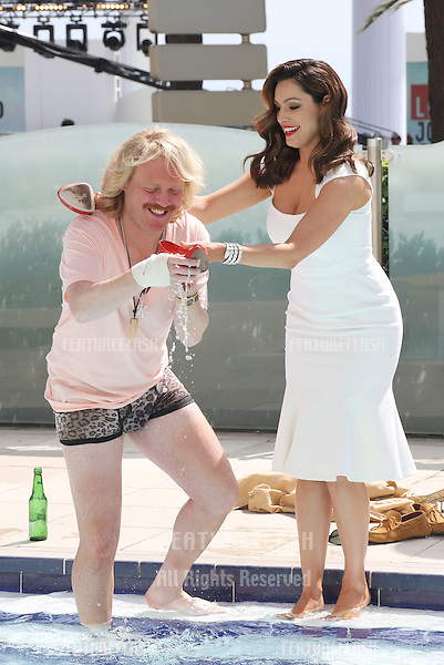 Keith Lemon and Kelly Brook at the 'Keith the Movie' photocall.Cannes, France. 19/05/2012 Picture by: Henry Harris / Featureflash