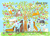 Kate, CUTE ANIMALS, LUSTIGE TIERE, ANIMALITOS DIVERTIDOS, paintings+++++Family tree,GBKM272,#ac#, EVERYDAY ,dogs,dog ,puzzle,puzzles