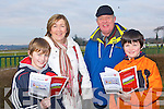 FUN: Having great fun at the North Kerry Harries point to point races at the Ballybeggan racecourse, Tralee on Sunday l-r: Tomas Sheehy and Eilish, William and Alan Dore, Ballyard.