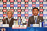 (L-R) Eiji Ueda,  Norio Sasaki (JPN), JULY 2, 2012 - Football / Soccer : Japan Women's head coach Norio Sasaki attends the press conference of 2012 London Olympic Games squad announcement at The Capitol Hotel Tokyu, Tokyo, Japan. (Photo by Atsushi Tomura/AFLO SPORT)