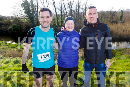 John Heaphy (Listowel), Bernie Egan (Causeway) and James Daly (Causeway) ready to run the 10miler and 5k Fundraising run for the Kerry Hospice on Sunday.