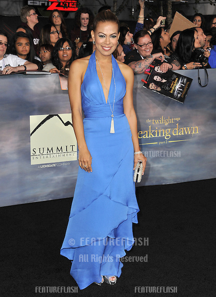 "Toni Trucks at the world premiere of her movie ""The Twilight Saga: Breaking Dawn - Part 2"" at the Nokia Theatre LA Live..November 12, 2012  Los Angeles, CA.Picture: Paul Smith / Featureflash"