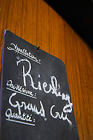 riesling sign on tank grand cru dom frederic mochel traenheim alsace france