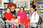 KaylaMcCarthy, Sandra Lynch, Marcella Mulvhill and Nollaig McCarthy Christmas Shopping in Listowel.