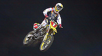 Daytona Supercross, Daytona International Speedway, March 7, 2009.  (photo by Brian Cleary/www.bcpix.com) Chad Reed in action