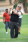 Phil Mickelson chipping his ball onto the 9th tee on day two of the Abu Dhabi HSBC Golf Championship 2011, at the Abu Dhabi golf club, UAE. 21/1/11..Picture Fran Caffrey/www.golffile.ie.